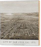 City Of San Jose County Of Santa Clara 1875 Wood Print