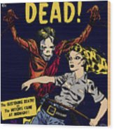 City Of The Living Dead Comic Book Poster Wood Print