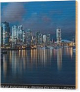 City Of Vancouver British Columbia Canada Wood Print