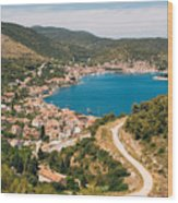 City Of Vis Wood Print
