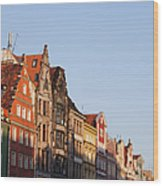 City Of Wroclaw Old Town Skyline At Sunset Wood Print