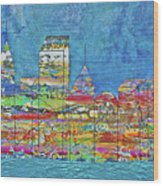 City On The Water Wood Print
