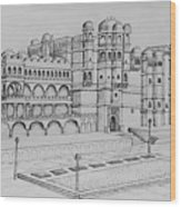 City Palace Of Udaipur  Wood Print