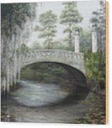 City Park Bridge Wood Print