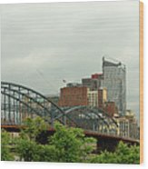 City - Pittsburgh Pa - The Grand City Of Pittsburg Wood Print