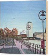 City Quay Campshires Wood Print