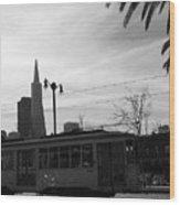 City Rail Wood Print