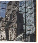 City Reflections Wood Print