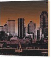 City Sailin 2 Wood Print
