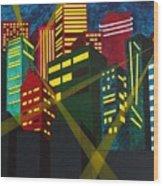 City Scion Wood Print