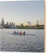 City Skyline - Philadelphia On The Schuylkill River Wood Print