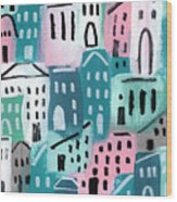City Stories- Church On The Hill Wood Print