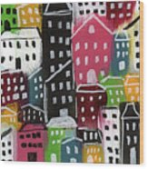 City Stories- Colorful Wood Print
