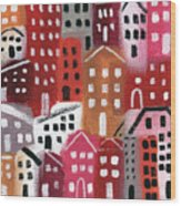 City Stories- Ruby Road Wood Print