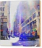 City Street Wood Print
