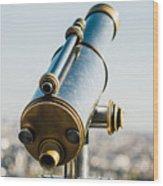 City Telescope Wood Print