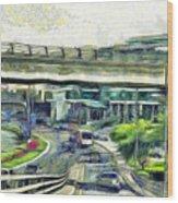 City Traffic Wood Print