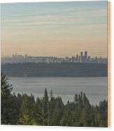 City View Of Vancouver And Burnaby Bc Wood Print
