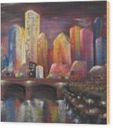 Citylights Wood Print