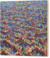 Citypattern Wood Print
