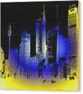 Cityscape 1 Wood Print