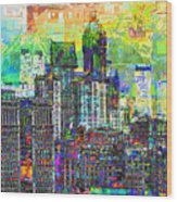Cityscape Art City Optimist Wood Print