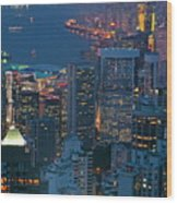 Cityscape From Victoria Peak Wood Print