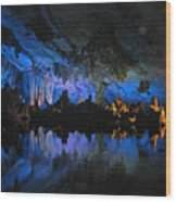 Cityscape In The Cave Wood Print
