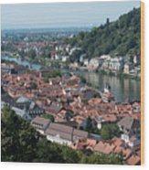 Cityscape  Of Heidelberg In Germany Wood Print