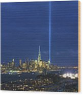 Cityscape Tribute In Lights Nyc Wood Print