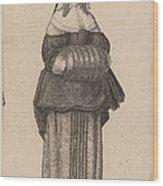 Ciuis Aut Mercatoris Antuerpiensis Vxor Wood Print