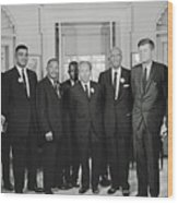 Civil Rights Leaders And President Kennedy 1963 Wood Print