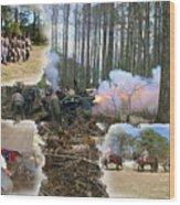 Civil War At New Bern Wood Print