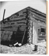 Civil War Cabin 1 Army Heritage Education Center Wood Print