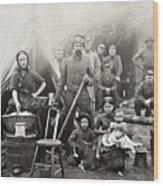 Civil War: Camp Life, 1861 Wood Print
