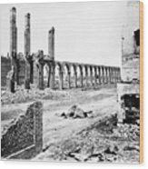 Civil War: Charleston Ruins Wood Print