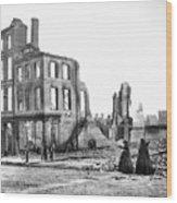 Civil War: Fall Of Richmond Wood Print
