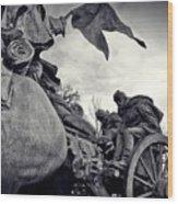 Civil War In Bronze Wood Print