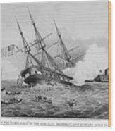 Civil War: Merrimac (1862) Wood Print