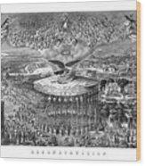 Civil War Reconstruction Wood Print
