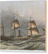 Civil War: Uss Kearsarge Wood Print