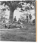 Civil War: Wounded Wood Print