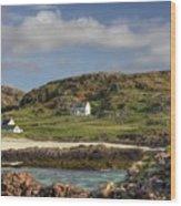 Clachtoll Beach Wood Print