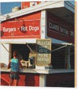 Clam Bar, East Hampton Wood Print