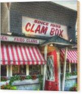Clam Box Restaurant - Ipswich Ma Wood Print by Joann Vitali