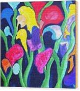 Clamflower Iv Wood Print