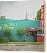 Clanton's Cafe Wood Print
