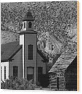 Clapboard Church 1898 Wood Print