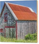 Clapboard House Wood Print