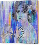 Clara Bow I'll See You In New York Wood Print